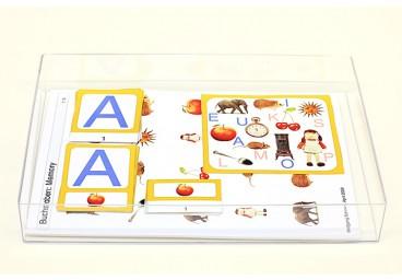 Schiebe- und Aufdeckspieleinlagen - Buchstaben