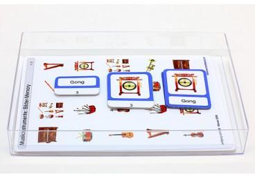 Schiebe- und Aufdeckspieleinlagen - Musikinstrumente