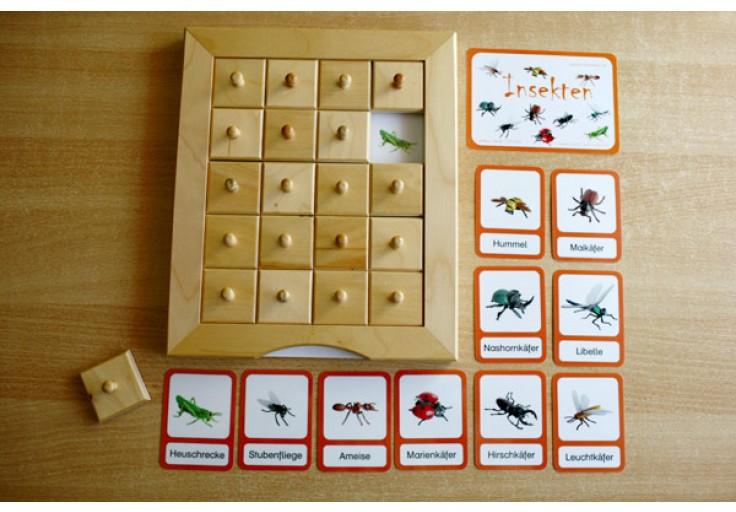 schiebe und aufdeckspieleinlagen  insekten