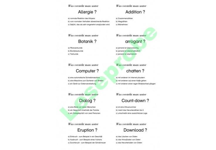 Fremdwörter Für Kinder Wortschatz Sprache