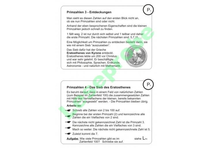 Rechenkartei im Zahlenraum 100 - ZR 100 - Arithmetik - Mathematik