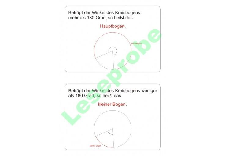 Kartei zum Kreis - Geometrie - Mathematik