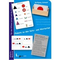 Plakate zu den Satz- und Wortarten, Adj. blau
