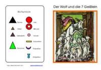 Wortartenmärchen: Wolf & Geißlein, Adj. braun