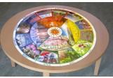 Jahreskreis für Tisch mit Fotos 75cm