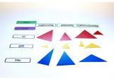 Dreieckspiel, Adjektive blau